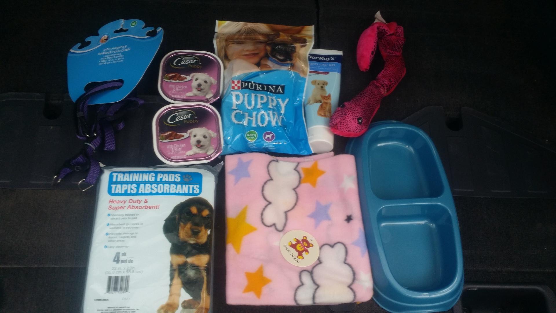 Puppy starter kit $50